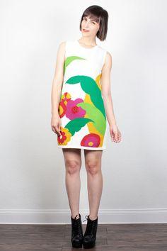 Vintage 80s Mini Dress Sweater Dress Jumper Knit 1980s Dress Sleeveless Vest Dress Floral Print Color Block New Wave Dress S Small M Medium by ShopTwitchVintage #dress #minidress #sweaterdress #colorblock #jumper #newwave #vintage #etsy #80s #1980s