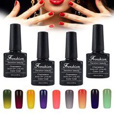 Frenshion Thermal Temper Change Color UV Gel Nail Polish Long Lasting 10ML Soak Off Gel UV Cured 48 Colors Vernis Semi Permanent