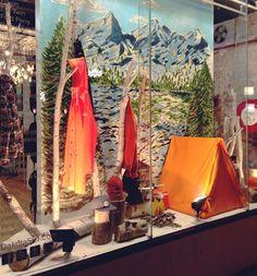 camping window display - Google Search