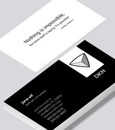 Modern contemporary business card design -Darknet Consultant business card