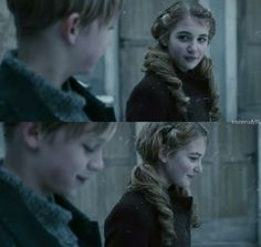 The Book Thief ~❤️ love this scene! In my top 3 favorites from the whole movie. SO. MUCH. CUTENESS. :D