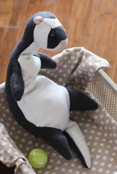 Plush Toy Ferret by MyBeautifulMonsters on DeviantArt