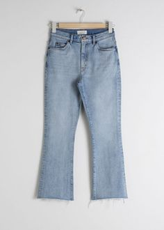Kick Flare High Rise Jeans - Light Blue - Jeans - & Other Stories Kick Flare Jeans, Jeanne Damas, Uniqlo, Granny Shoes, Tweed, Zara, All Jeans, White Suits, Short Dresses