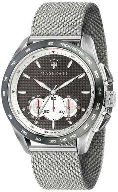 Maserati Mens Analogue Quartz Watch with Stainless Steel Strap Maserati Herren Analog Quarzuhr mit Edelstahlarmband Bugatti Veyron, Maserati Levante, Crystal Texture, Mesh Bracelet, Stainless Steel Mesh, Watch Model, Vintage Watches, Quartz Watch, Watches For Men
