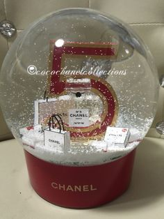 Chanel No 5 Limited Edition Electric Red Snow Globe Brand New | eBay