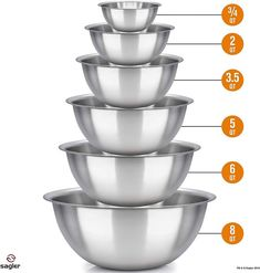 (This is an affiliate pin) mixing bowls stainless Polished kitchen