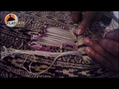 Fixing a Hole in a Pakistani Bokhara Rug - YouTube