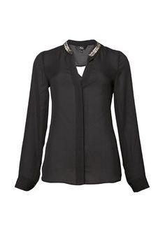 Beaded Collar Shirt 1