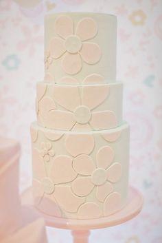 Flower Inspired Pretty Pastel Cake