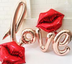 """Sale RED LIPS Lip Kiss Balloons 14"""" Small Air Fill Valentines Day Valentine Galentine's Decor Kisses Xo Xoxo Photo Prop Kissy Face Duck Lips by TheFulfilledShop on Etsy https://www.etsy.com/listing/509190727/sale-red-lips-lip-kiss-balloons-14-small"""