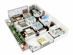 3 Bedroom Apartment House Plans House And Decoration