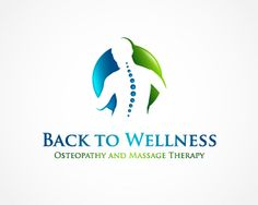 Back to Wellness Osteopathy and Massage Therapy logo design contest at Logo Arena. Logo entry number 1 by ridwan Facebook And Instagram Logo, Natural Body Detox, Natural Healing, Chiropractic Logo, Massage Logo, Sports Therapy, Psychological Stress, Massage Business, Medical Logo