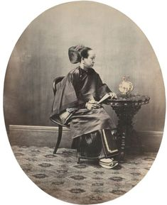 William Saunders, A Canton Woman, 1860s-1870s. Hand-tinted albumen silver print. No. 49 in Sketches of Chinese Life and Character series
