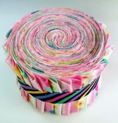 "David Walker Pink Tea Party Collection Jelly Roll 21 Fabric Quilting 2.5"" Strips"