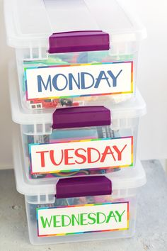 How to Make Busy Boxes for Kids (Free Printable Labels)