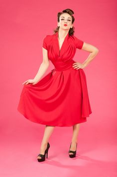 *Odette-Rose -  Classic retro dress