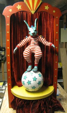 bunny by Carisa Swenson Rabbit Drawing, Big Top, Bunny Rabbit, Creepy, Carnival, Sculptures, Give It To Me, Artsy, Merry