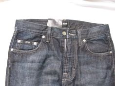 Hugo Boss Men Jacksons Comfort Fit Dark Blue Jeans Size 30 Length 34 NWT #BOSS #Relaxed