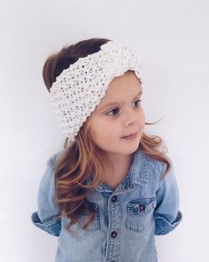 Textured headwrap for kids by MaxOliviaKnitwear on Etsy