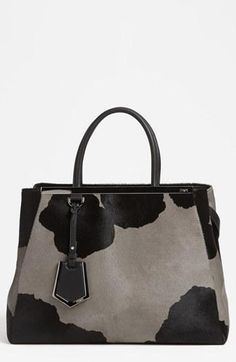 Spotted! Fendi  2Jours  Cow Print Shopper Handbag Fashion Handbags 12f1cec5fd211