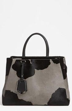 Spotted! Fendi '2Jours' Cow Print Shopper Handbag