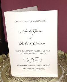 Wedding Ceremony Programs Folded  Personalized by KnotJustWeddings, $1.65
