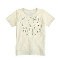 Kids' crewcuts for David Sheldrick Wildlife Trust elephant tee : Garments for Good | J.Crew. 100% of net proceeds from the sale of the shirt will go to the David Sheldrick Wildlife Trust. @jcrew