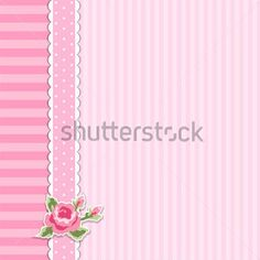 Shabby Chic Wallpaper Border | ... border in shabby chic style ideal as album cover or baby shower card