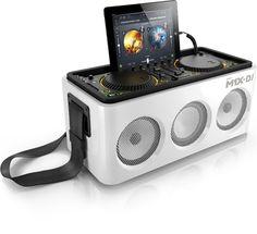 dj-quality bluetooth wireless speakers dock - the M1X-DJ system