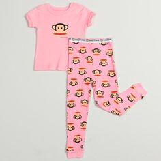 Paul Frank Toddler Girls  Two-piece Pink 100-percent Cotton Pajama Set  Cotton 3627b625d