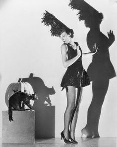 Vintage Pin Up Witch with Cat