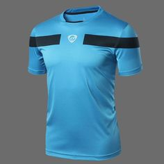 LUCKY SAILING 2016 Men's summer Tights Shirt Athletic Design T-shirt Running Fitness tees O-neck Short-sleeve Top Soccer Jerseys