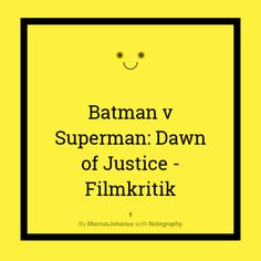 Batman v Superman Dawn of Justice Filmkriitik