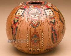 """Authentic Hand Tooled Navajo Pottery Vase 5""""""""x4"""""""" (198)ART : Navajo Nation PotteryFosterginger.Pinterest.ComMore Pins Like This One At FOSTERGINGER @ PINTEREST No Pin Limitsでこのようなピンがいっぱいになるピンの限界"""