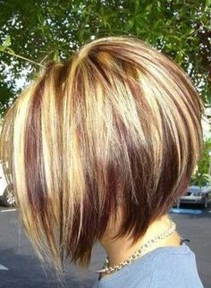 Highlighted Graduated Bob Hair