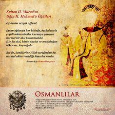 Sultan II. Murad'ın Oğlu II. Mehmed'e Öğütleri