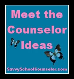 Meet the Counselor Ideas---beg. of year activities