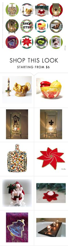 """Holiday Home Decorations"" by glowblocks ❤ liked on Polyvore featuring interior, interiors, interior design, home, home decor, interior decorating, Hostess and kitchen"