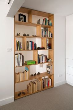 CLERKENWELL-07.jpg • Bespoke Plywood Furniture, designed and manufactured in London. [built-in bookcase shelf unit]