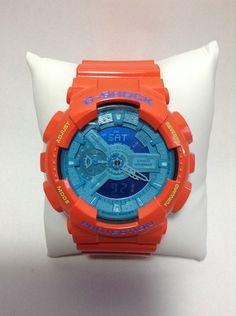 Customized Original G-Shock GA110  [ HOZUKI ]  Base Watch : Hyper Blue [GA-110B-1A2] Vesel Portion : Hyper Orange [GA-110A-4JF] Top Band : Hyper Orange [GA-110A-4JF] Bottom Band : Hyper Orange [GA-110A-4JF]