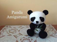 Panda Amigurumi (tutorial) - YouTube Más