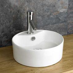 Valo 38.4cm Diameter Ceramic Countertop Round Hand Basin