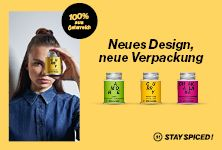 STAY SPICED ! by SPICEWORLD Neues Design, neue Verpackung – da wirst du Augen machen! #stayspiced Spices, Design, Blog, Cordial, Packaging, Eyes, Spice, Blogging, Design Comics