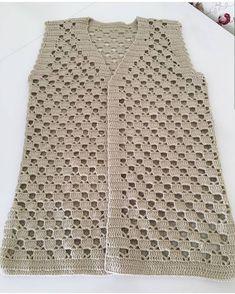 Hand Knitting Women's Sweaters Débardeurs Au Crochet, Gilet Crochet, Crochet Vest Pattern, Crochet Jacket, Crochet Woman, Crochet Cardigan, Crochet Shawl, Easy Crochet, Crochet Stitches