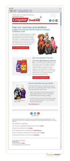 Brand: Colgate | Subject: Keep your kids' teeth clean and healthy this Halloween