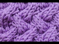 Stricken * Strickmuster * Falsches Entrelac * Flechtmuster - YouTube