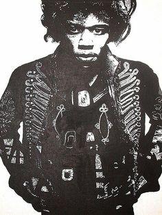 Hendrix poster pop art