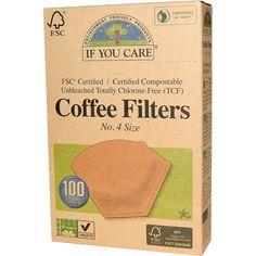 Kaffefiltre af ubleget papir i størrelsen 4.  Antal: 100 stk. Materiale: Ubleget papir af FSC certificeret træ Feelgood faktor: ******  TIP:Når du har brygget din kaffe - kan du bruge kaffegrumsen til en ret  fantastisk bodyscrub. Evt. rør din grums op med en lækker kokosolie,  mandelolie
