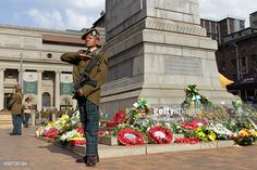 Members of the South African Defence Force (SANDF) attend a remembrance day at the Cenotaph to commemorate the lives lost during the the World Wars I and II, and the other wars, in central Johannesburg, South Africa, 09 November Defence Force, Remembrance Day, World War I, South Africa, Irish, November, Lost, African, Military