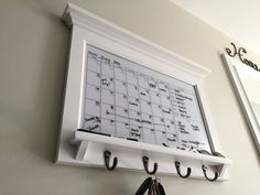 Please note: Family Calendar Family Organizer Family Planner Weekly Planner Monthly Planner with Horizontal White Dry Erase Calendar Organizer with Shelf and Keyhooks is made once ordered, there is no current stock. Please see below for important build and delivery times prior to purchase! Kitchen decor, entryway, office organization Wall Organizer Home Decor Wall Hanging Storage and Furniture note: This wall mounted family organizer with glass style white dry erase calendar and week…